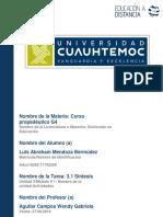 Luis Abraham Mendoza Bermúdez 3.1 Sintesis