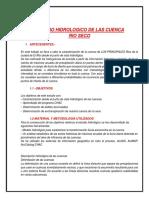 ESTUDIO HIDROLOGICO DE LAS CUENCA