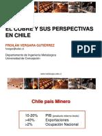 El cobre y sus perspectivas en Chile