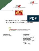 s & Dm Project on Madura Garment