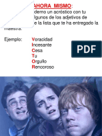 Lectura de Harry Poter