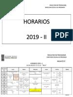 Horario FAPS UNFV 2019-II