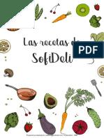 Recetario SofiDeli (Dulces, Saladas & Colaciones)
