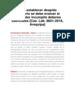 CASACION LABORAL - CONSIDERACIONES PARA EL DESPIDO ARBITRARIO.docx
