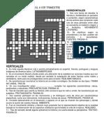 CRUCIGRAMA DE ESPAÑOL II 1ER TRIMESTRE