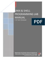 Unix & Shell Programming Lab Manual