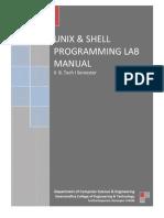 Unix & Shell Programming Lab Manual