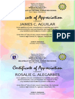 Nutrition Month 2019 Certificate