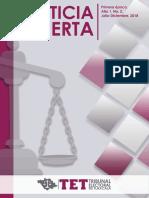 Improcedencia del control constitucional abstracto en la esfera de competencia de un tribunal electoral local. A propósito de la resolución TET-JDC-001/2019. Autor