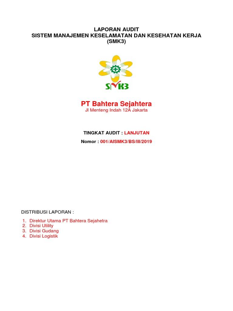 Contoh Laporan Audit Smk3 Internal