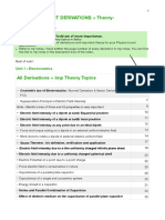Physics Imp Derivations + Theory