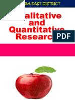 Qualitative and Quantitative Research