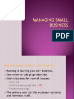 Chapter 6 Small Business managing