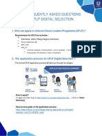 FAQ UFLP digital selection