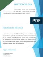 Microsoft Excel 2016 ppt