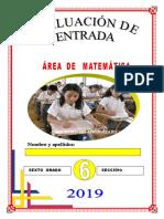 6to Evaluación entrada_ Matemática