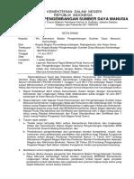 ND Kabag Sekban - Laporan Notulensi Kedatangan Kemen LHK 2017
