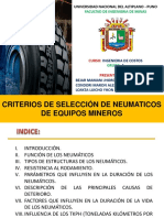 Criterios de Selección de Neumaticos de Equipos Mineros