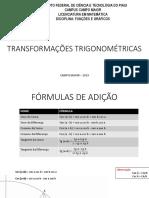 Identidade e transformações trigonometricas