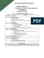 Schedule ICOSETH