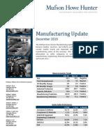 Manufacturing Newsletter - December 2019