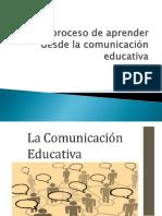 El proceso de aprender  desde la comunicación educativa