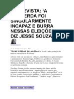 ENTREVISTA - JESSÉ SOUZA - THE INTERCEPT.docx