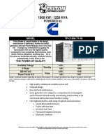 1000 KW Cummins Diesel Generator Set - Non EPA TP-C1000-T1-60