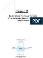 Ch12 Factorial and Fractional Factorial Experiments for Process Design and Improvement.ppt