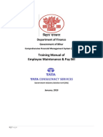 Bihar CFMS Employee and PayBill Training Manual