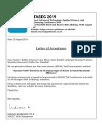 ATASEC 2019 - Letter of Acceptance