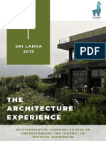 The Architecture Experience - Sri Lanka October 2019 Brochure