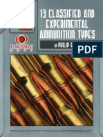 13 classified and exparamential ammunition types