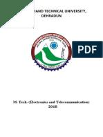 M Tech Electronic Communication