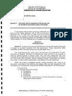 Circular Memorandum Order - No.14 -s2009