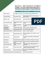 List of Dental Providers 2019-1101