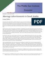 Marriage Advertisements Saudi Arabia