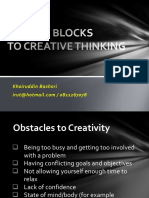 Mental Blocks to Creative Thinking