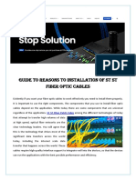 Guide to Reasons to Installation of ST ST Fiber Optic Cables