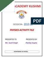 PHYSICS ACTIVITY FILE