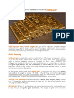 So What Do You Need to Know About Buying Gold
