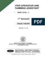 COPA (NSQF) - 1st Sem - Trade TheoryWM