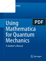 Roman Schmied - Using Mathematica for Quantum Mechanics. a Student's Manual-Springer (2019)