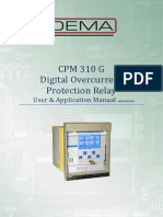 CPM 310G Digital Overcurrent Protection Relay Manual
