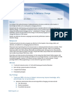 Effective Education Leading To Behavior Change - 2009-05-28