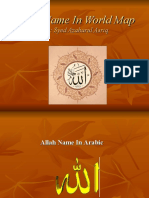 Allah Name in World Map
