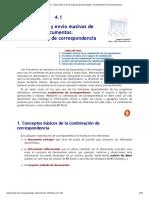 Tema 4.1. Generación y envío masivos de documentos. Combinación de correspondencia