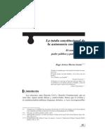 Autonomía contractual y Constitución
