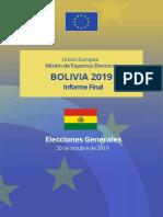 Informe final de la misión de expertos electorales de la UE