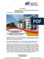 Press Release_ Ground Breaking_DTI General Santos City